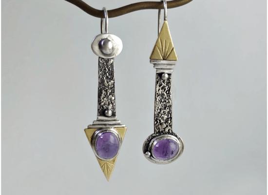 Eliz'art, bijoux lithothérapie et vibratoires. Boucles d'oreilles bohèmes et uniques