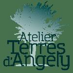 Logo Atelier Terres d'Angely, artisane céramiste, travail de la porcelaine
